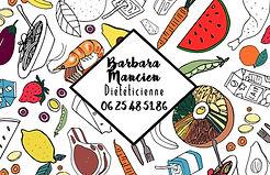 carte de visite diéticienne