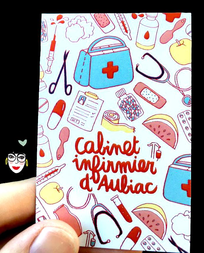 carte de visite originale infirmière