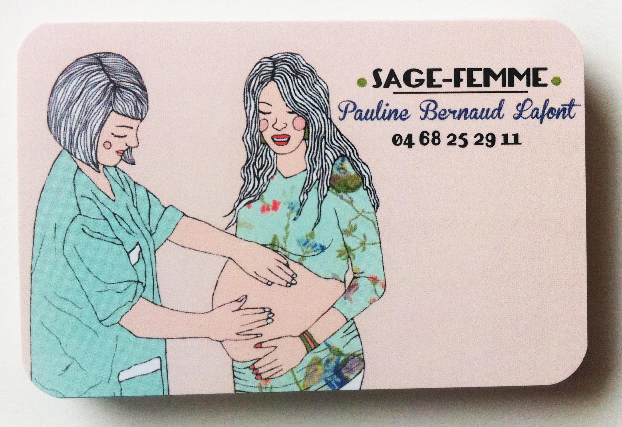 carte visite originale sage-femme
