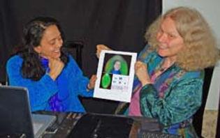 Lucia & Carolyn finished aura chakra ima