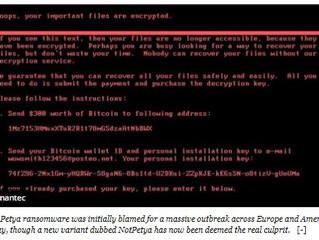 Petya or NoPetya: a ransomware deadlier than WannaCry