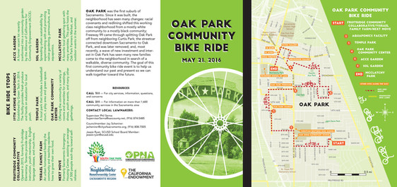 Oak Park Bike Ride Brochure