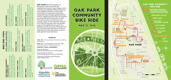 Oak Park Bike Ride Brochure