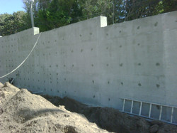 Cast in Place Retaining Wall