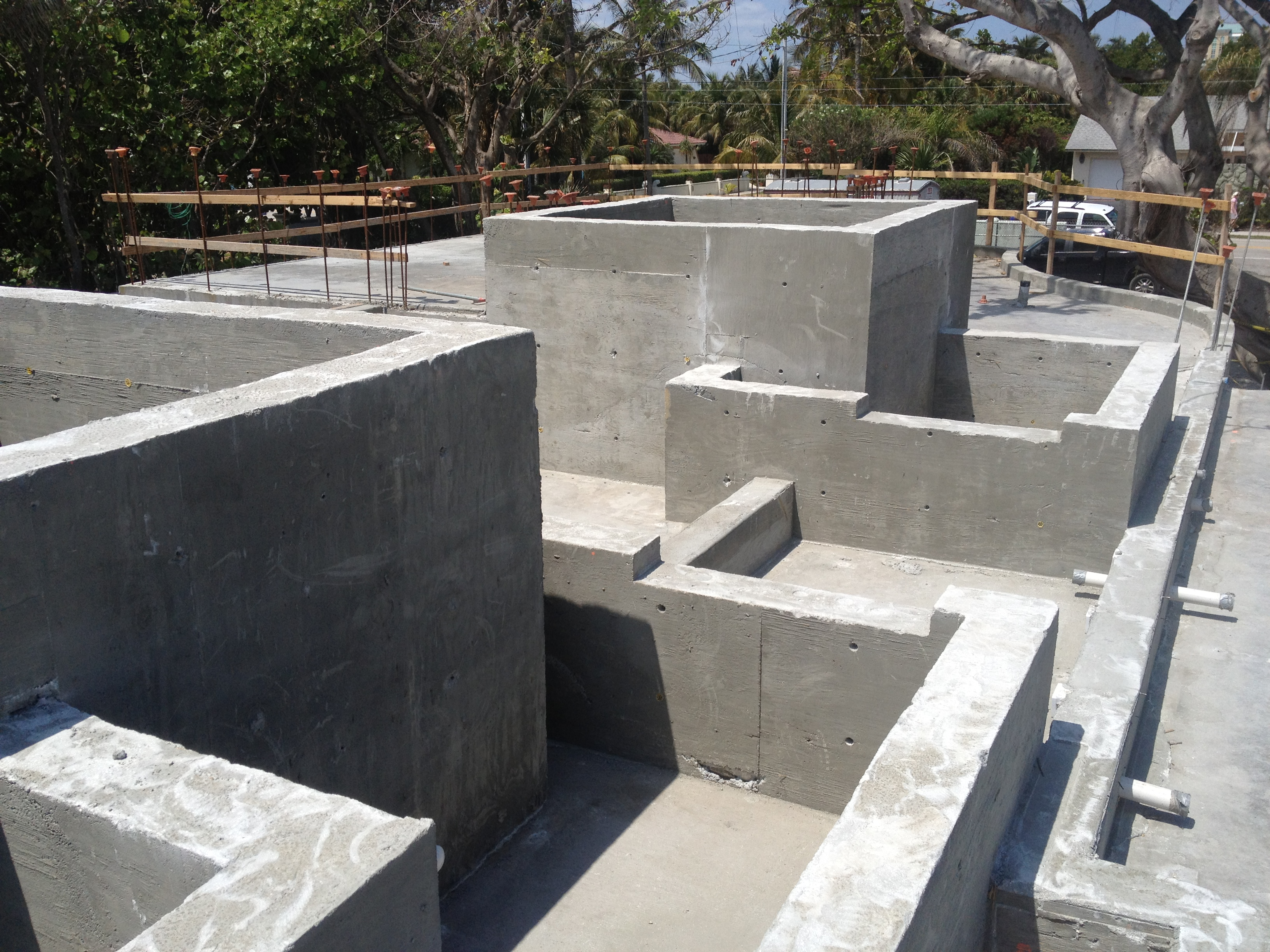 Cast in Place Concrete Work Ocean Front Custom