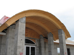 Raduis Heavy Timber Hand Framed Entry