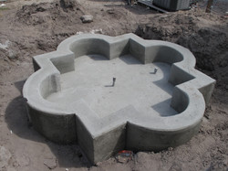 Cast in Place Fountain