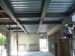 Structural Steel Beam and Corregrated Deck System