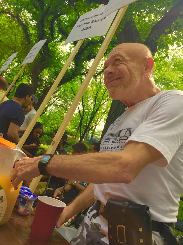 Brent during  AIDS WALK NYC 2015