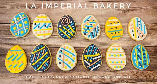 Easter Egg Sugar Cookie Decorating Kit -