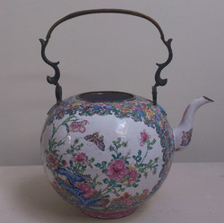Canton enamel teapot