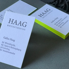 Visitenkarte Haag Wirtschaftsberatung Biel