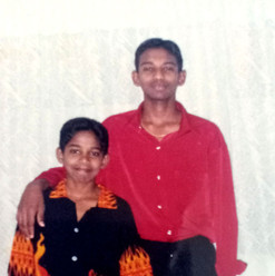 With Bro Issac, Aged 19