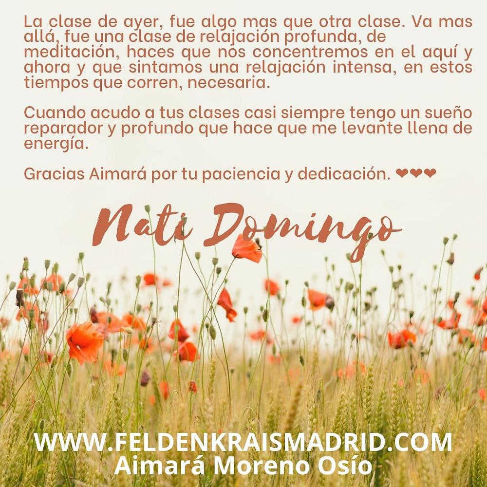 Feldenkrais online con Aimará Moreno Osío