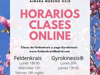 Nuevos horarios para mis clases online