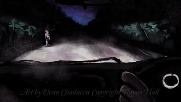 Rayne Hall - Ghost story illustration art by elena Chadaeva copyright Rayne Hall