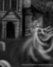 Rayne Hall - Ghost story illustration art by Jamie Chapman copyright Rayne Hall