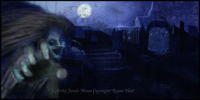 Rayne Hall - Ghost story illustration art by Jamie Brant copyright Rayne Hall