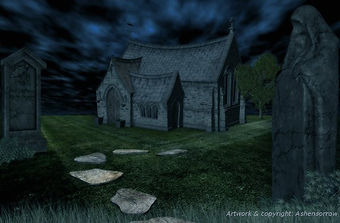 Rayne Hall - Ghost story illustration art by Ashensorrom
