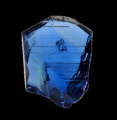 NATURAL BLUE TANZANITE 90.41CTS 31X24X12MM