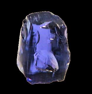 NATURAL BLUE TANZANITE 7.12CTS 12X8X7MM