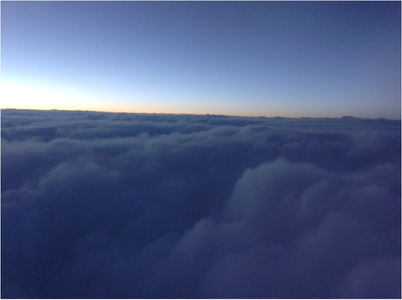 clouds outside an airplane
