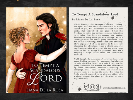 Register your pre-order of To Tempt A Scandalous Lord and receive a custom art card!