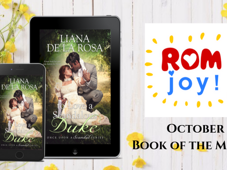 TO LOVE A SCANDALOUS DUKE is Romance Sparks Joy Book of the Month!