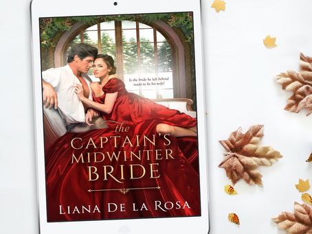 Cover Reveal for THE CAPTAIN'S MIDWINTER BRIDE!