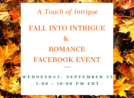 Join me at the Fall Into Intrigue & Romance Event!