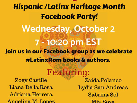 Celebrate Hispanic/Latinx Heritage Month with me!