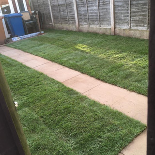after turfing