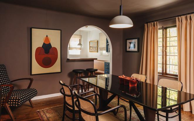 Night Palm Beachwood Canyon Residence Dining Room