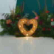 Сердце с лампами в аренду. Москва