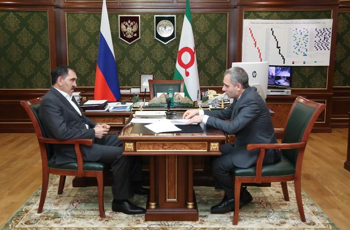 Рабочая встреча с Главой Республики Ингушетия