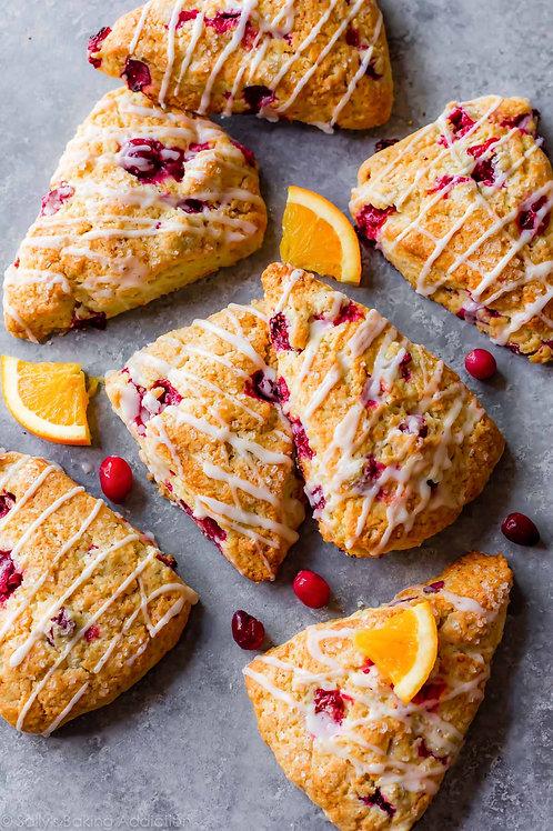 Thurs, Jan 28th  - Lemon Cranberry Scones @ 4pm