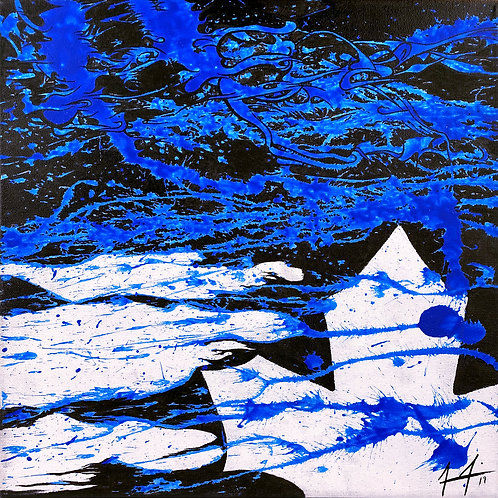 Cloud Bursting Series – Blue Leaf