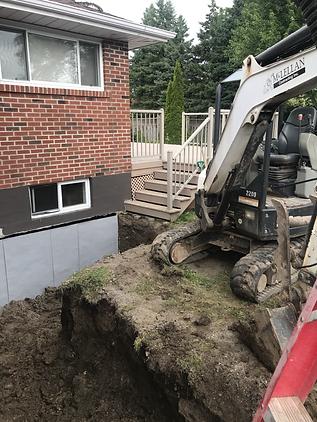 bobcat excavator foundation leak waterproofing