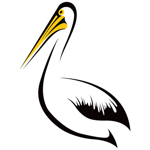 Digital Bird Series – Pelican