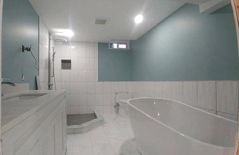freestanding tub bathroom renovation