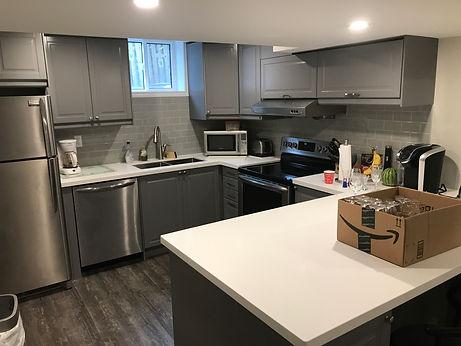 basement apartment kitchen