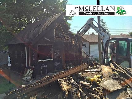 E32 excavator demolition