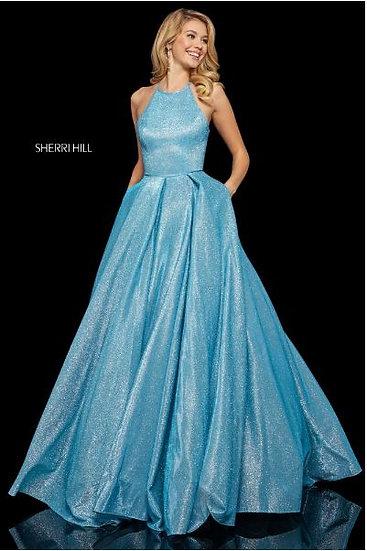 Sherri Hill 52964 Turquoise/Silver