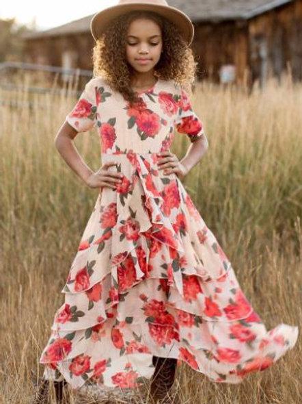 Joyfolie Red Greta Floral Taliah Dress