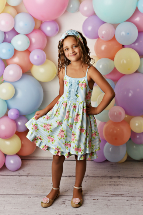 Swoon Baby Dress w/ Shortie Enchanted Meadow
