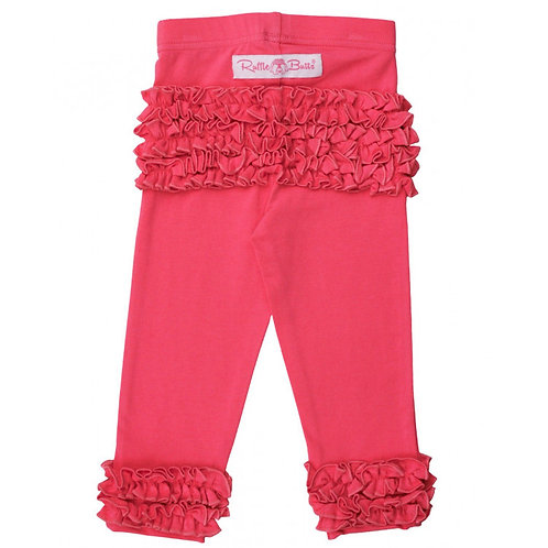 Ruffle Butts Everyday Ruffle Legging Candy Pink