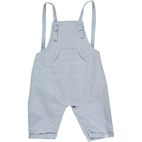 Me & Henry Ahoy Shortie Overall Chambray Stripe