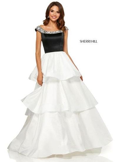 Sherri Hill 52427 Black/Ivory