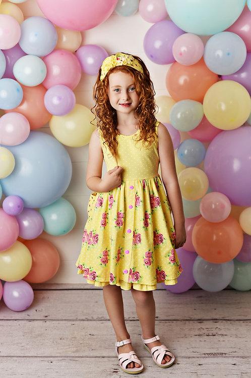 Swoon Baby Pocket Dress w/ Shortie  Spring Garden