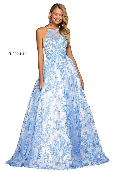 Sherri Hill 53620 Ivory/Blue